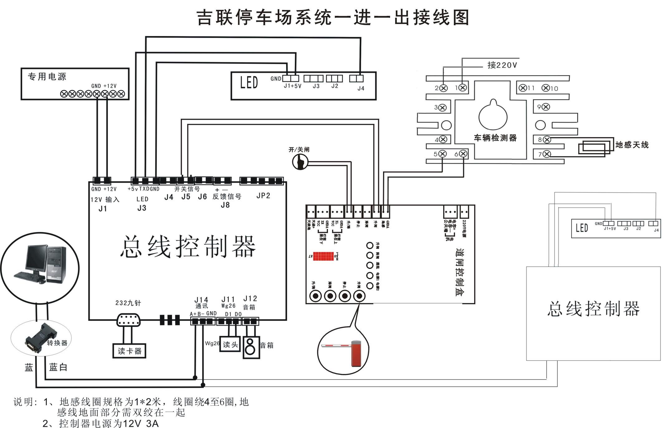 道闸系统控制原理图 道闸系统常见故障处理